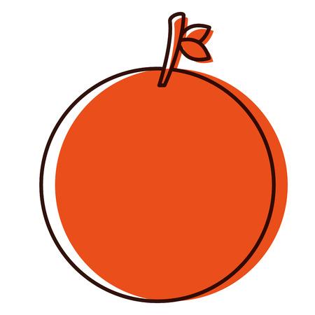 An orange citrus fruit icon vector illustration design Illustration