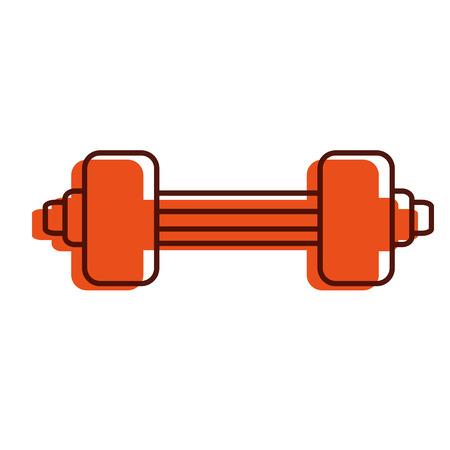 Diseño del levantamiento de pesas gimnasio icono vector ilustración Foto de archivo - 84758822