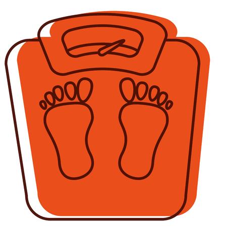 scale weight measure icon vector illustration design Ilustração