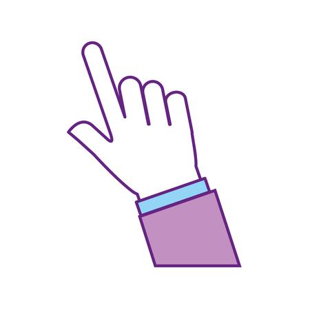 손 인간의 인덱스 아이콘 벡터 일러스트 디자인 일러스트