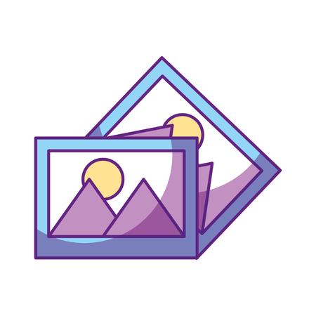 Een ontwerp van de het pictogram vectorillustratie van foto'sgegevensbestand Stock Illustratie