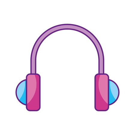 portable audio: earphones device isolated icon vector illustration design Illustration