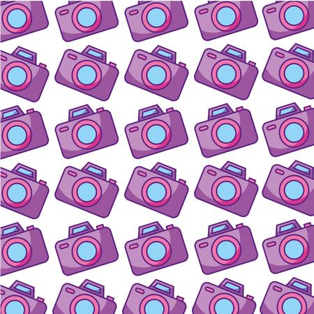 camera photographic pattern background vector illustration design Ilustração