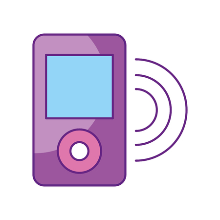 film industry: music media player isolated icon vector illustration design