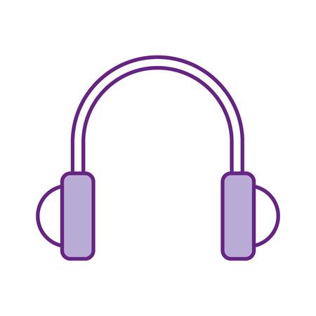 Dispositivo de auriculares aislado icono de ilustración vectorial de diseño Foto de archivo - 84751052