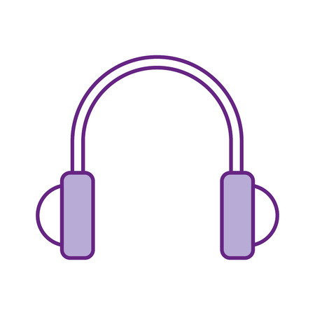 earphones device isolated icon vector illustration design Illustration