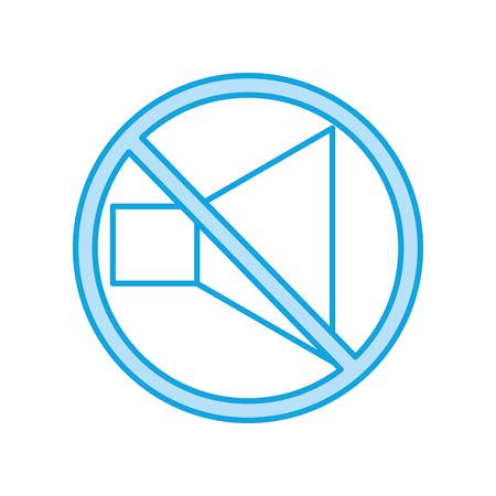 speaker sound off isolated icon vector illustration design