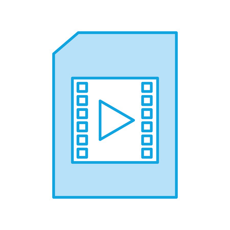 paper with media player isolated icon vector illustration design