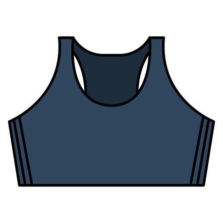 Female gym shirt wear icon vector illustration design Ilustração