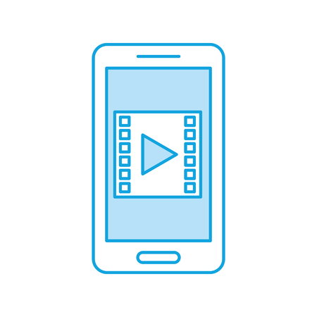 film industry: smartphone with media player isolated icon vector illustration design Illustration