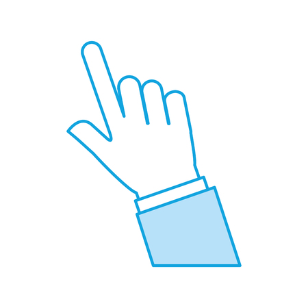 Diseño humano del ejemplo del vector del icono del índice de la mano Foto de archivo - 84741445