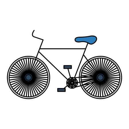 bicycle race isolated icon vector illustration design