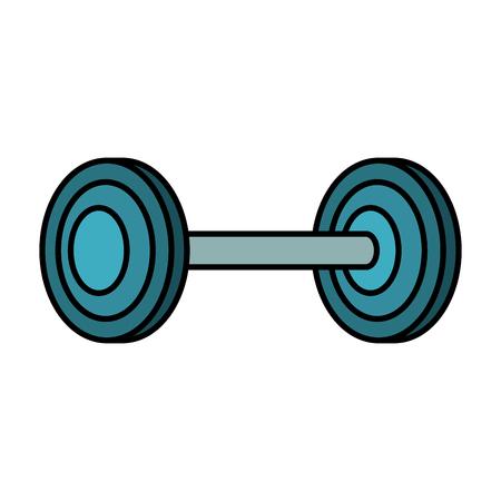 Gewichtheffen gym pictogram vector illustratie ontwerp Stock Illustratie