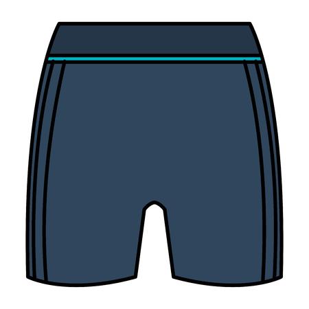 Female gym short wear icon vector illustration design