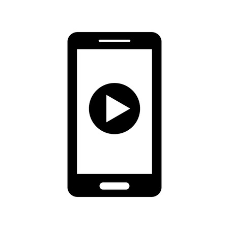 smartphone with media player isolated icon vector illustration design 向量圖像