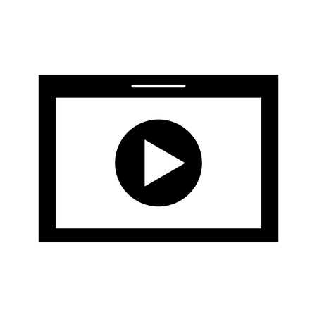 Tablet with media player isolated icon vector illustration design 向量圖像