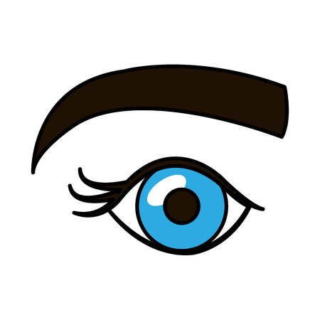 Occhio umano con disegno illustrazione vettoriale Archivio Fotografico - 84741719