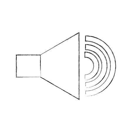 スピーカー音の分離アイコン ベクトル イラスト デザイン