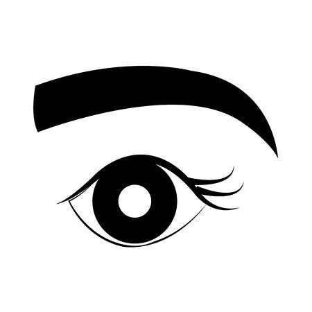 Occhio umano con disegno illustrazione vettoriale Archivio Fotografico - 84751735