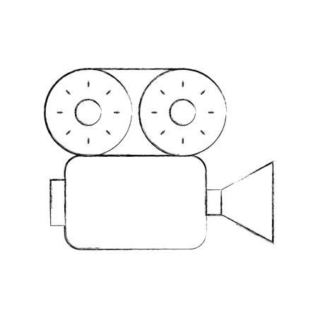 Caméra vidéo icône isolé illustration vectorielle conception Banque d'images - 84755603