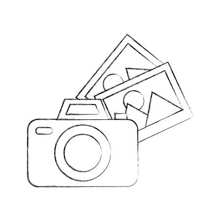 Fotocamera fotografica con illustrazione vettoriale illustrazione di immagini Archivio Fotografico - 84755613
