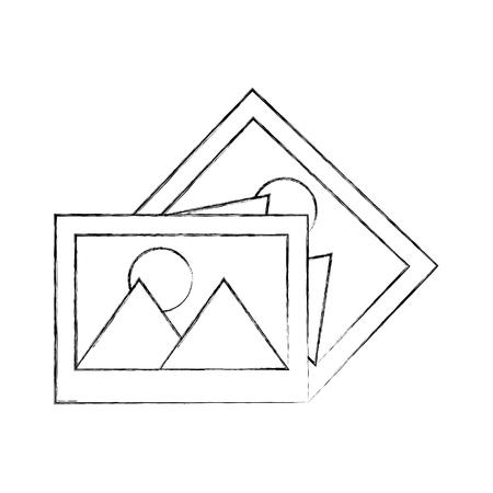 svg: pictures data file icon vector illustration design