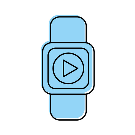 film industry: smartwatch with media player isolated icon vector illustration design Illustration