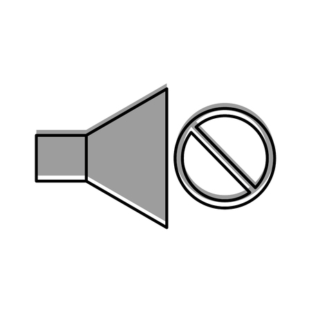 分離のアイコン ベクトル イラスト デザインからサウンド スピーカー