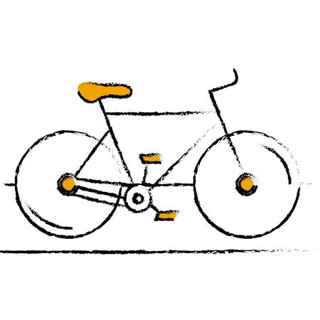 自転車レース分離アイコンベクトルイラストデザイン  イラスト・ベクター素材