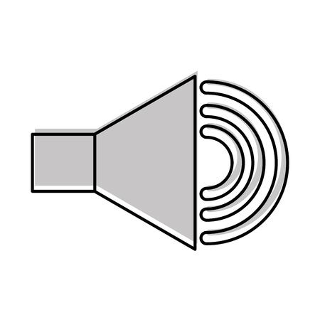 스피커 소리 절연 아이콘 벡터 일러스트 디자인