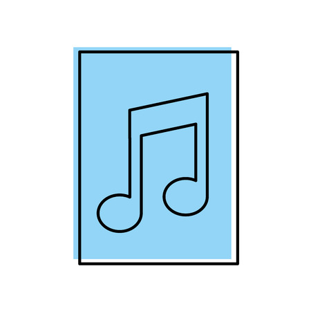 paper document with music note isolated icon vector illustration design