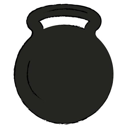 Disegno di illustrazione vettoriale icona della palestra di sollevamento pesi Archivio Fotografico - 84751790