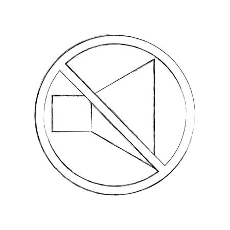 격리 된 아이콘 벡터 일러스트 디자인에서 스피커 소리