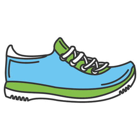 sport shoes tennis icon vector illustration design
