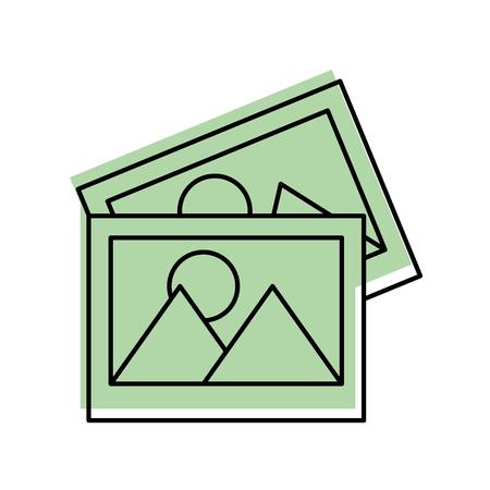 foto's gegevensbestand icoon vector illustratie ontwerp