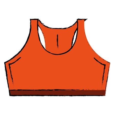 activewear: Female gym shirt wear icon vector illustration design Illustration