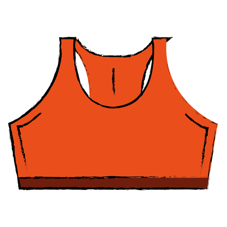 Female gym shirt wear icon vector illustration design Illustration