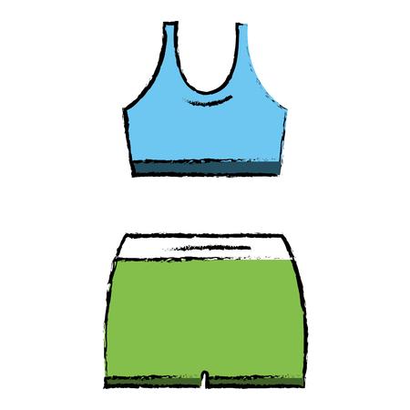 Female gym wear icon vector illustration design
