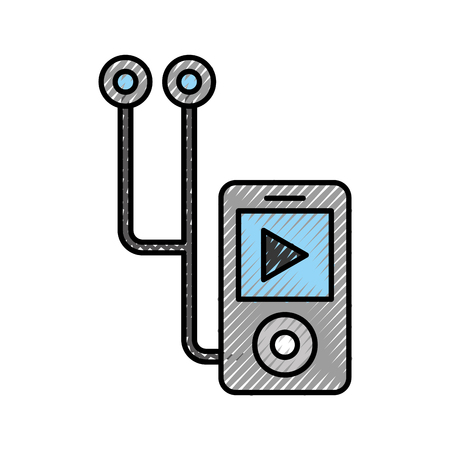 music media player isolated icon vector illustration design