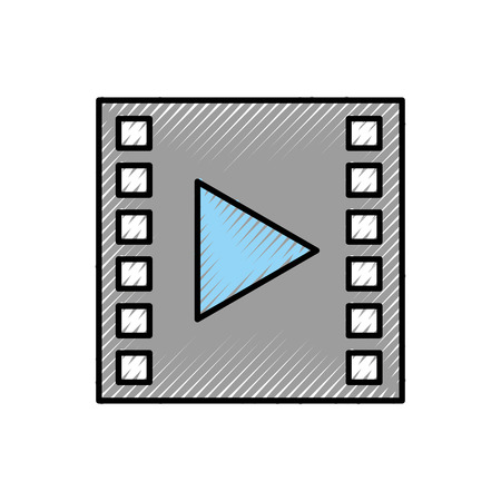 tape media player geïsoleerd pictogram vector illustratie ontwerp