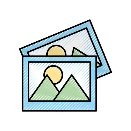 写真データ ファイルのアイコン ベクトル イラスト デザイン  イラスト・ベクター素材