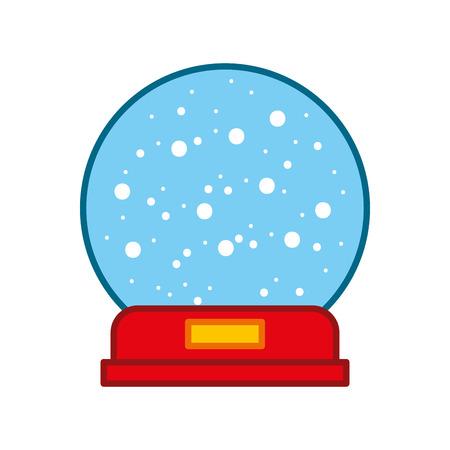 Decorative crystal ball icon vector illustration design