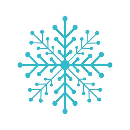 Sneeuwvlok geïsoleerd pictogram vector illustratie ontwerp Vector Illustratie