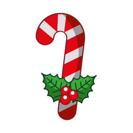 A sweet christmas cane icon vector illustration design. Illustration