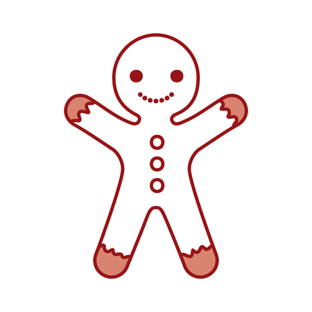 Ingwer Cookie Weihnachten Symbol Vektor-Illustration, Design, Standard-Bild - 84748340