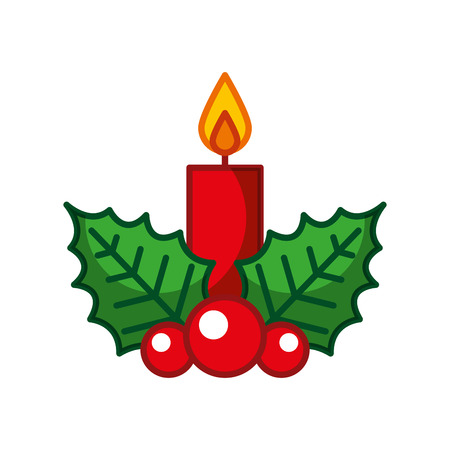 candle christmas isolated icon vector illustration design Vettoriali