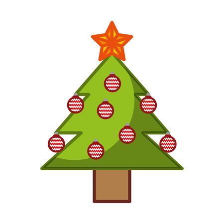 pine tree isolated icon vector illustration design Stock Vector - 84748367