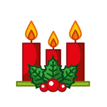 Vela de navidad aislado icono de ilustración vectorial de diseño Foto de archivo - 84748254