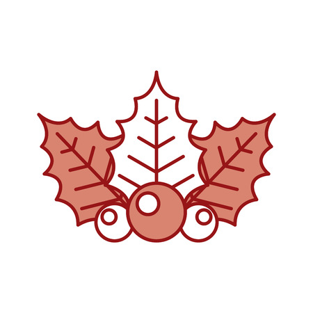 christmas decorative leaf icon vector illustration design Фото со стока - 84748256