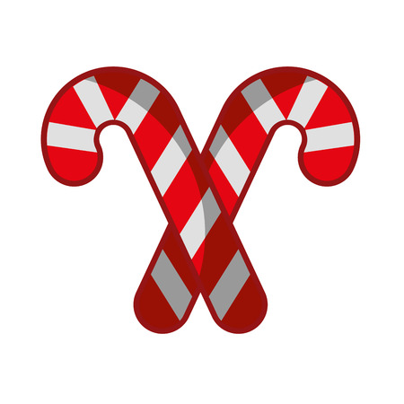 sweet christmas cane icon vector illustration design